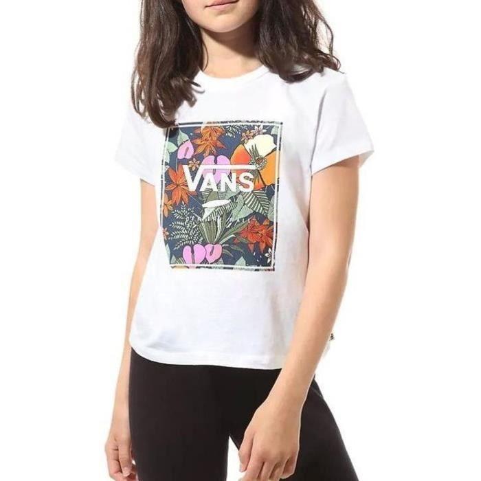 T-Shirt blanc fille Vans GR Multi Tropic