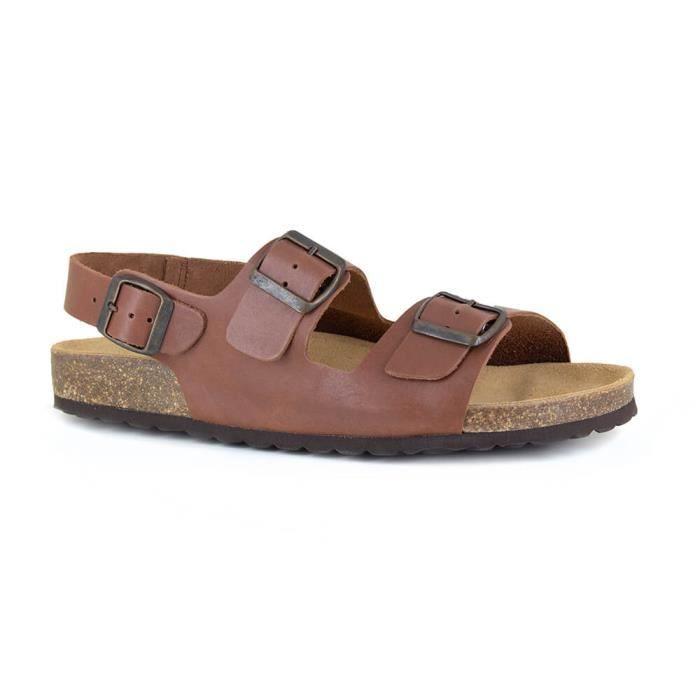 Sandale Homme J.Bradrford Cuir Conac JB-LINT