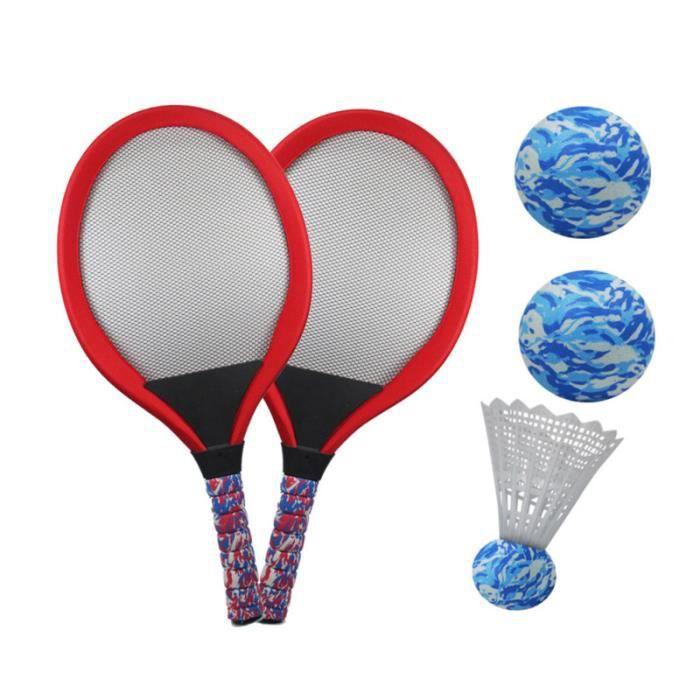 1 paire enfants tennis raquette de badminton jouant parent-enfant jeu éducatif accessoires RAQUETTE DE TENNIS - CADRE DE TENNIS