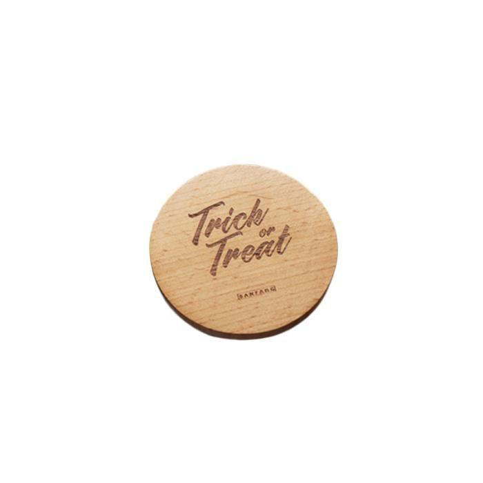 1 PC épaissi rond créatif durable élégant tasse Pad tapis en bois sous-verres pour SKATEBOARD - SHORTBOARD - LONGBOARD - PACK