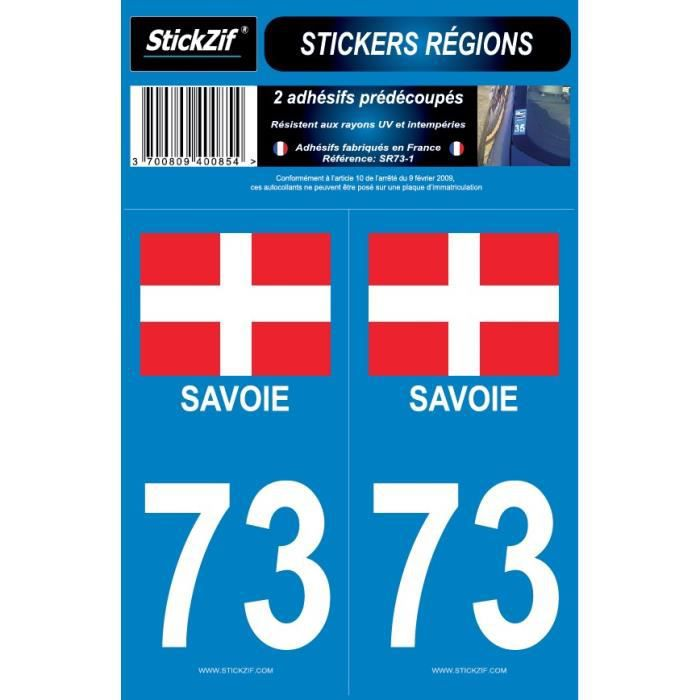 STICKZIF 2 Autocollants Région Département 73 Version 2 SR73-1