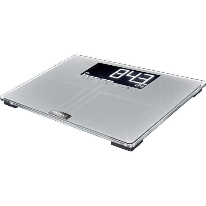 Balance d'analyse Soehnle Shape Sense Connect 200 Plage de pesée (max.)=180 kg gris avec Bluetooth