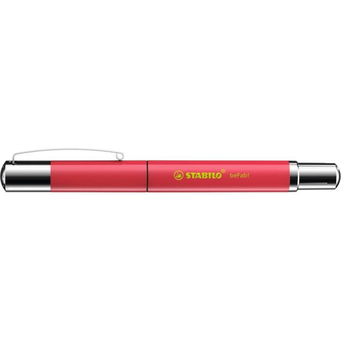 Stylo-plume STABILO beFab! - Collection UNI-COLORS : rouge pastèque