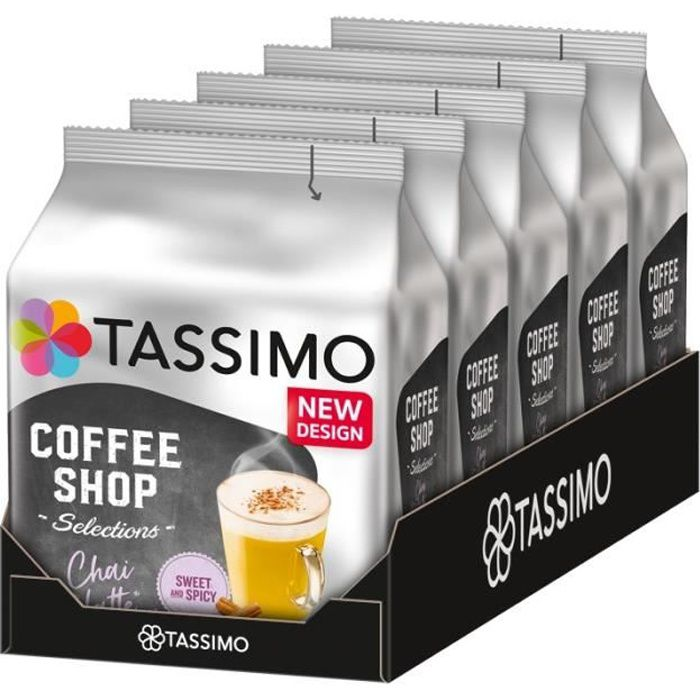 TASSIMO Coffee Shop Selections Chai Latte 5 x 8 Dosettes