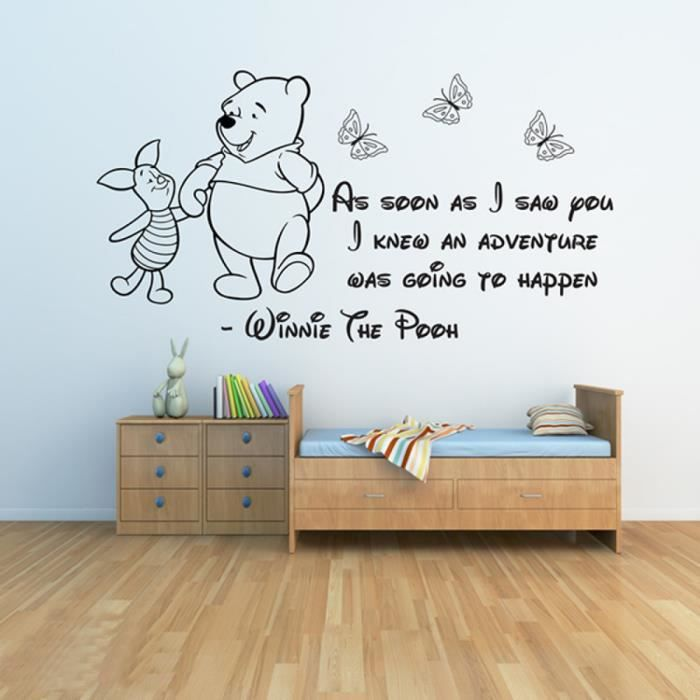 Winnie l 39 ourson stickers muraux 3 b b stickers muraux for Stickers muraux citations chambre