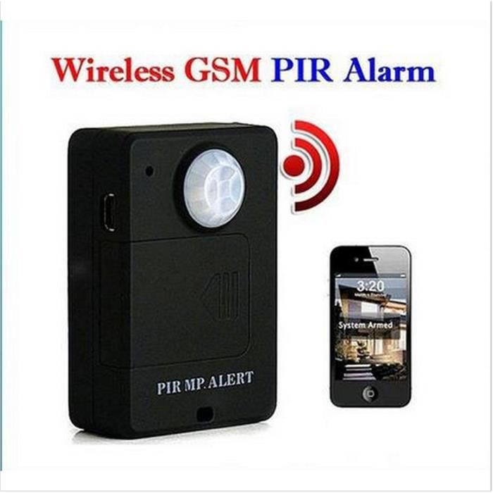 mini sans fil a9 pir alerte motion sensor d tecteur anti vol gsm syst me d 39 alarme moniteur. Black Bedroom Furniture Sets. Home Design Ideas