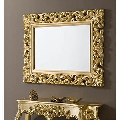 miroir baroque rectangulaire or achat vente miroir soldes d s le 10 janvier cdiscount. Black Bedroom Furniture Sets. Home Design Ideas