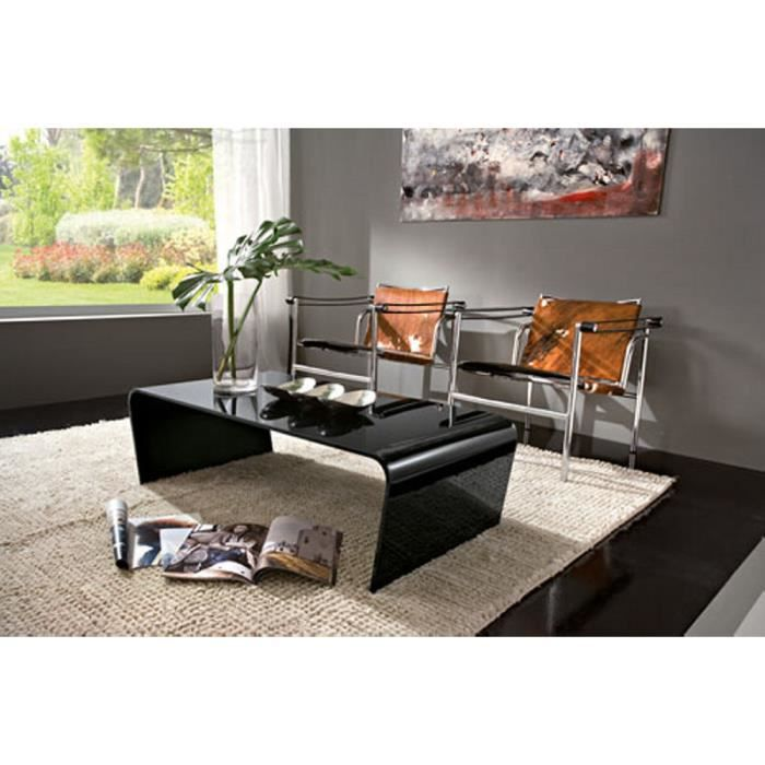 table basse verre noire camille 110cm meuble house achat vente table basse table basse. Black Bedroom Furniture Sets. Home Design Ideas