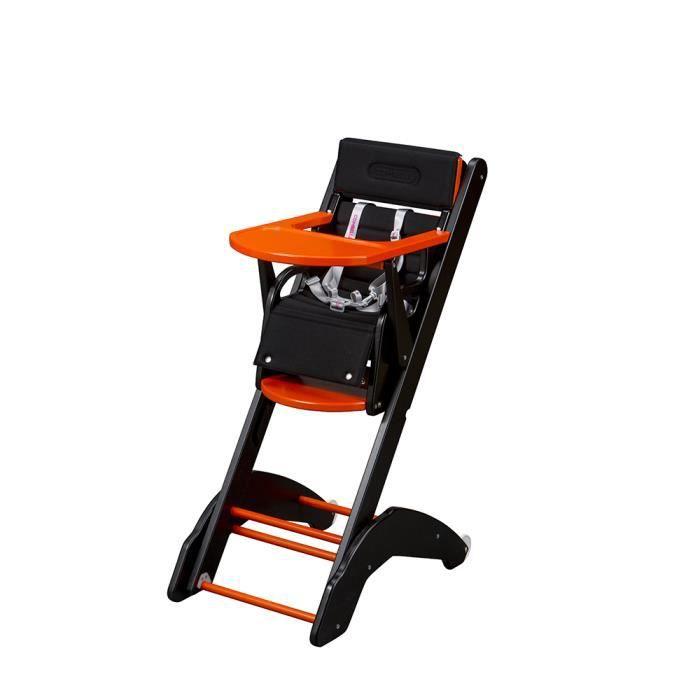 Chaise bébé haut de gamme colorée gain de place multipositions