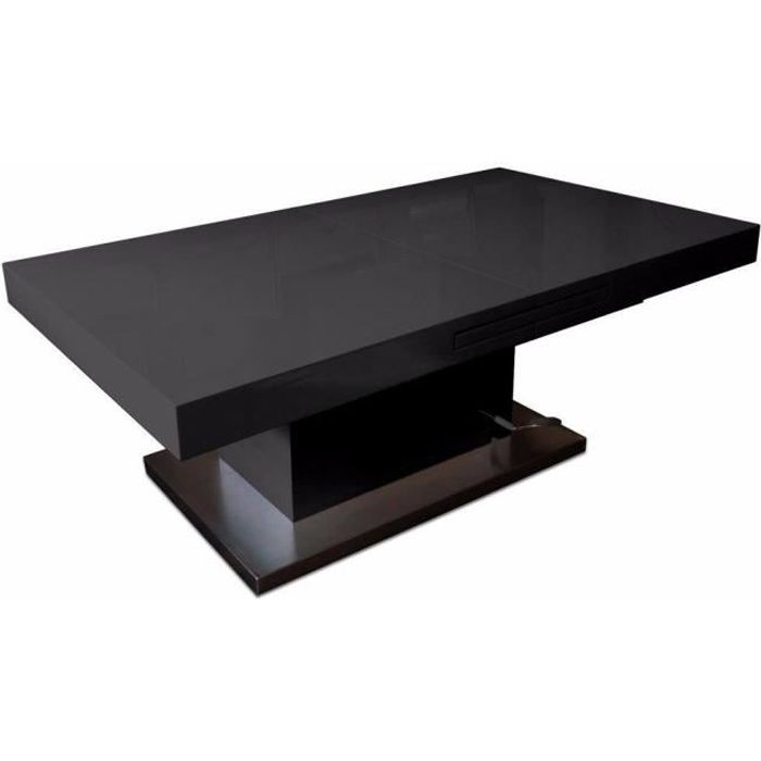 Table basse relevable extensible setup noir brillant - Table basse relevable cdiscount ...
