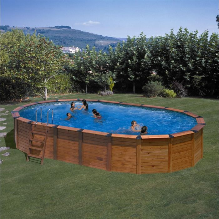 Piscine ovale for Piscine enterree acier ovale