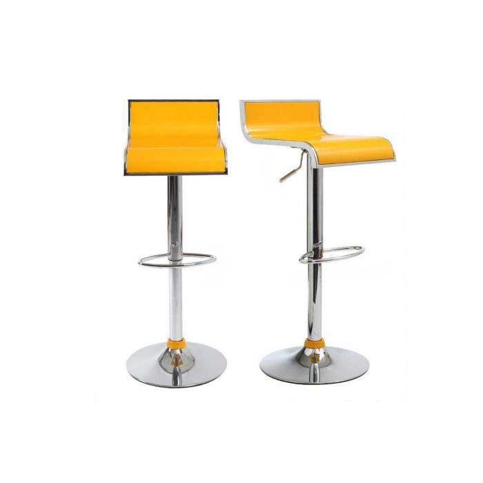 miliboo tabouret de bar cuisine jaunes desi achat vente tabouret abs chrome m tal. Black Bedroom Furniture Sets. Home Design Ideas