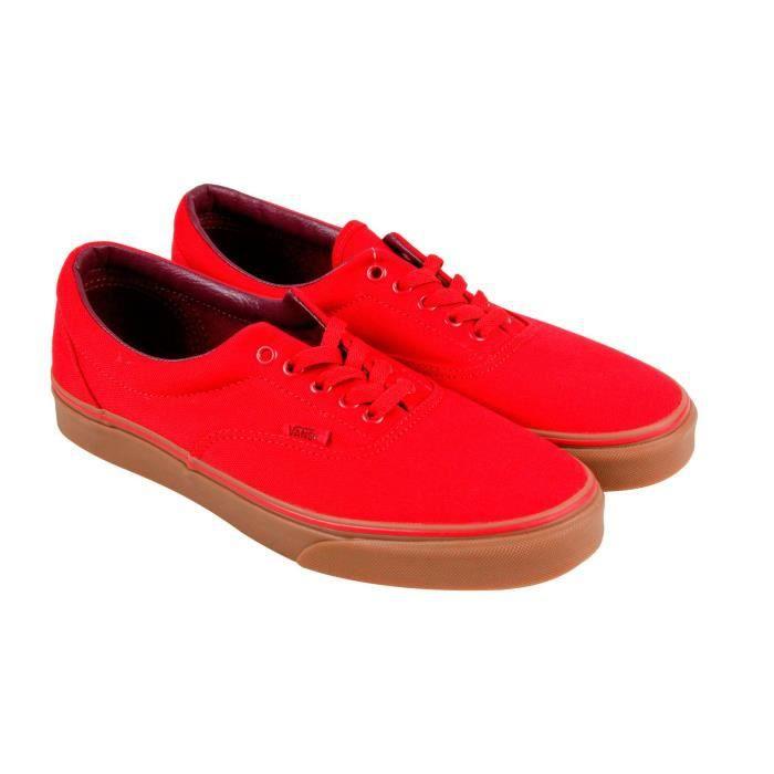 vans damier rouge