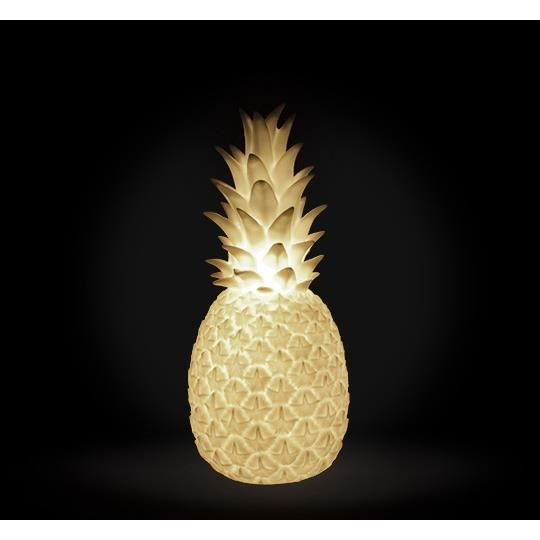 lampe poser ananas lumineux led h42 cm blanc filaire achat vente lampe poser ananas. Black Bedroom Furniture Sets. Home Design Ideas