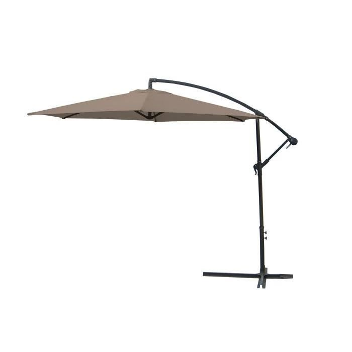 parasol excentre gris achat vente parasol parasol excentre gris cdiscount. Black Bedroom Furniture Sets. Home Design Ideas