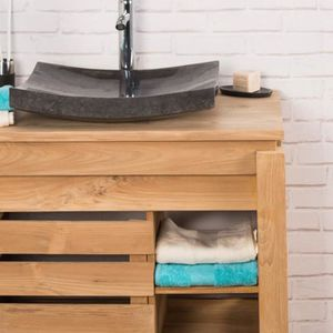 meuble salle de bain zen achat vente pas cher. Black Bedroom Furniture Sets. Home Design Ideas