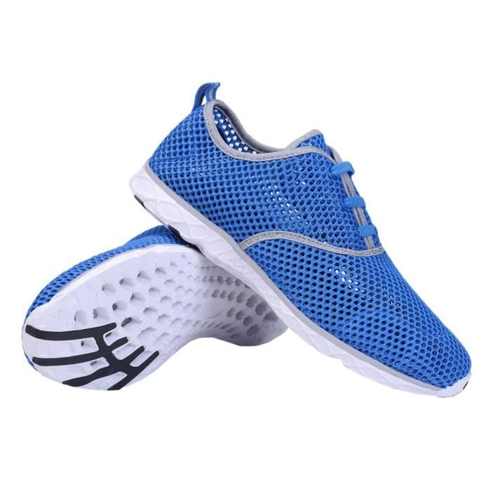 Water Shoes Mens Quick Drying Aqua Shoes Beach Pool Shoes Mesh Slip On D5YE6 Taille-42 1-2