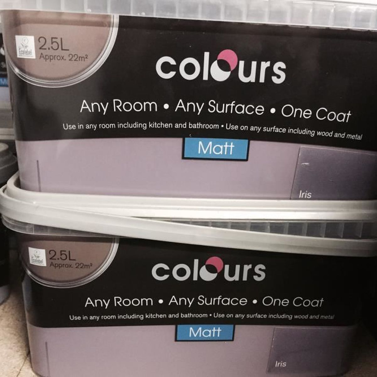 Peinture 2,5L multi support couleur VIOLET IRIS - Achat / Vente peinture - vernis Peinture 2,5L ...
