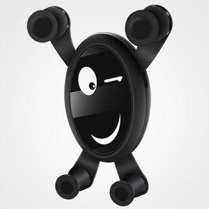 FIXATION - SUPPORT Support de Smartphone-Noir Noir Mignon Bande Dessi