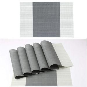 SET DE TABLE 8Pcs Sets de Table PVC Napperons Polyester à la Ma