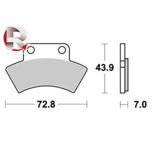 Plaquettes de frein arrière Quad Polaris scrambler 500 2004 à 2012 S1992
