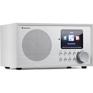RADIO CD CASSETTE auna Silver Star Mini Radio Internet sans fil - tu