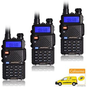 TALKIE-WALKIE 3x Baofeng UV-5R Black Noir Talkie Walkie uhf/vhf