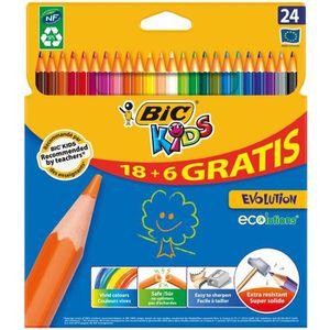 CRAYON DE COULEUR BIC ECOlution Kids Evolution Crayons de Couleur 18