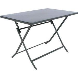 TABLE DE JARDIN  TABLE PLIANTE GREENSBORO HESPERIDE RECT. GRAPHITE