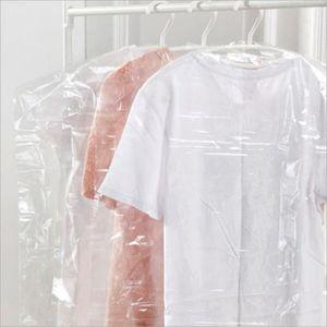 HOUSSE DE RANGEMENT 20pcs Vêtements de housse en plastique poche suspe