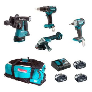 PACK DE MACHINES OUTIL MAKITA Kit MST4M3BL3 18V (DHR243 + DTD148 + DGA504