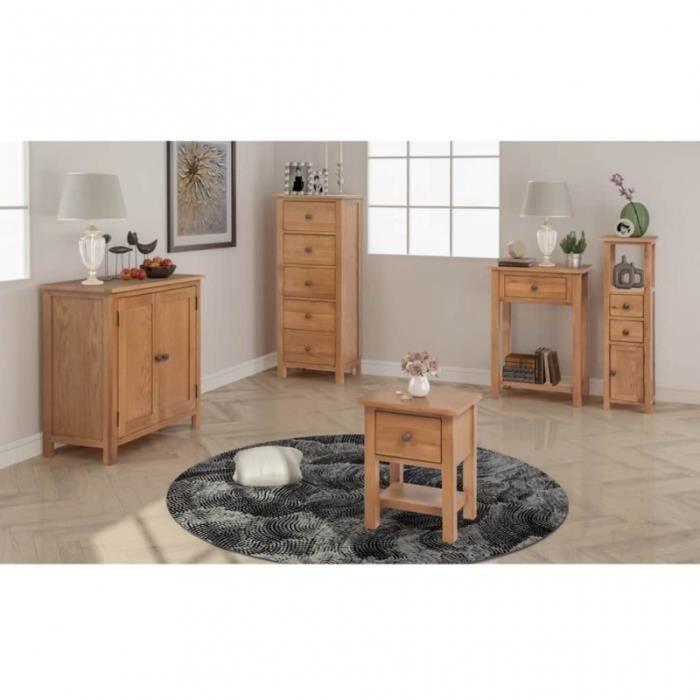 Ensemble de 5 meubles de salon en bois de chêne massif CS2747091