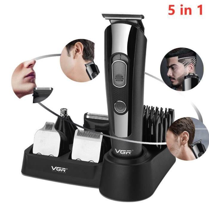 Tondeuse à cheveux électrique 5 en 1 pour hommes, rasoir professionnel pour le toilettage du nez et de la barbe [13470B2]