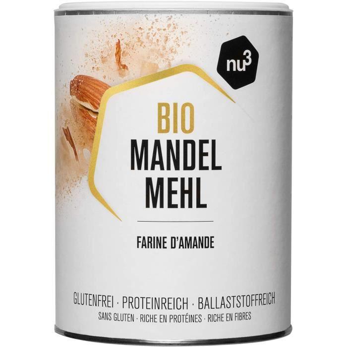 nu3 Farine d'Amande Bio 420g - 100% Amandes d'Espagne vegan - Farine sans gluten riche en protéines pauvre en glucides - Pour une al