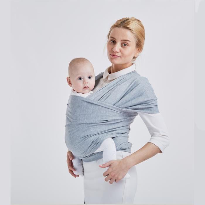 Echarpe de portage 0-48 mois gris clair mode coton Multifonction Simplicité Confort et sécurité Économie du travail Quatre saisons