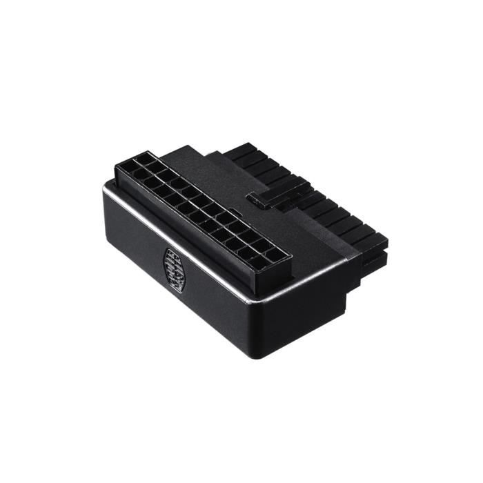 Cooler Master - Adaptateur ATX 24 broches - Branchement câble d'alimentation à 90 degrés - sans condensateur