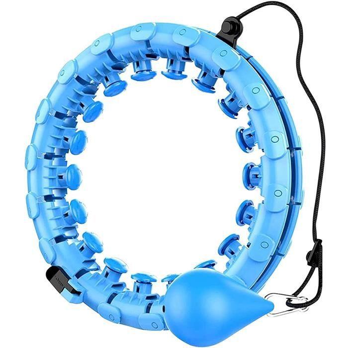 Hula Hoop Smart Weighted Hoola Hoops Réglable 132CM Anneau de Massage à 360 Degrés 24 pièces pour BrûLer Efficacement Les Graisses