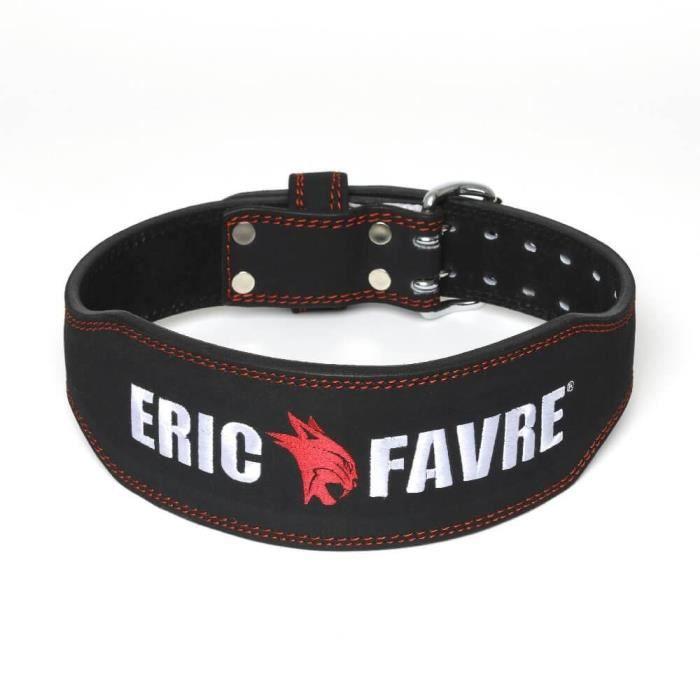 Eric Favre - Ceinture de force - Taille L - Musculation Fitness - Noir - L