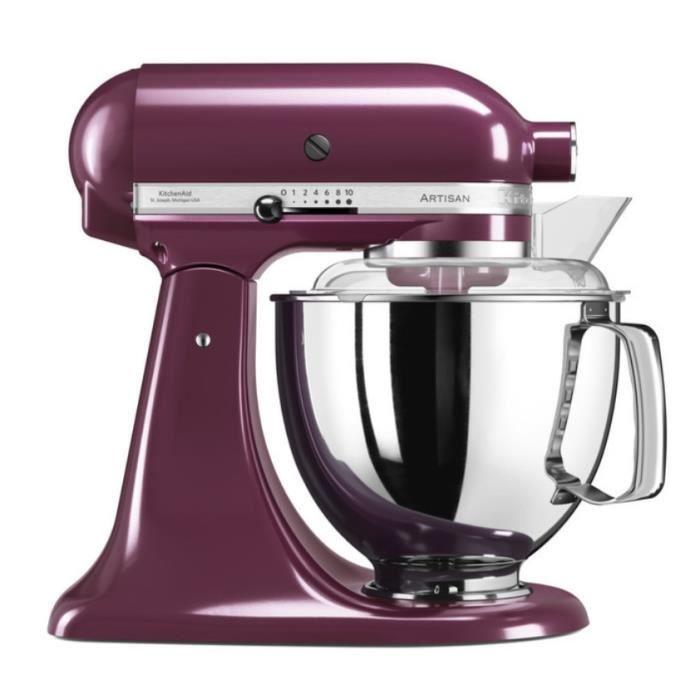 Kitchenaid - robot sur socle 4,8l 300w prune - 5ksm175pseby