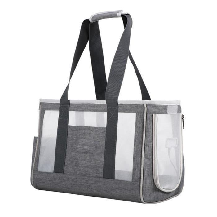 Sac de porte-animal sac respirant chat portable sac à main pochette pour animaux de compagnie pour chien chiot gris s