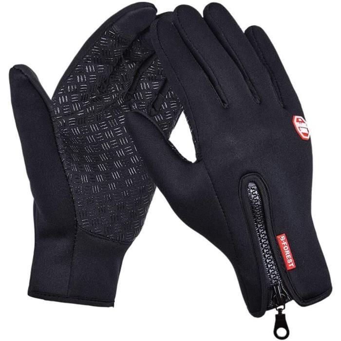 Gants Hiver Chaud Tactile Gants de Vélo VTT Ski Randonnée Moto pour Homme Femme Gants de Conduite avec Antidérapants