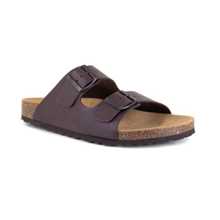 Sandale Homme J.Bradrford Cuir Marron JB-LEAF