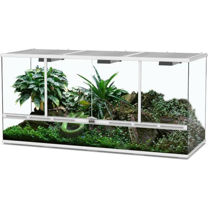 Terrarium 132x45x60 Blanc - Aquatlantis