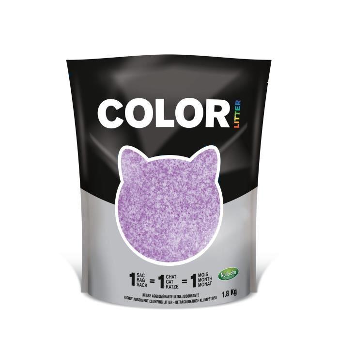 Nullodor Litière en Silice Agglomérante pour Chat 1,8 kg Violet - Par DEMAVIC