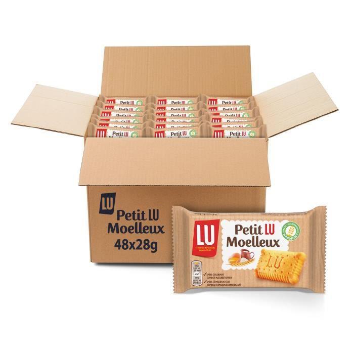 Petit LU moelleux - Gâteau nature - Idéal pour le goûter - Carton de 48 Sachets x 28 g