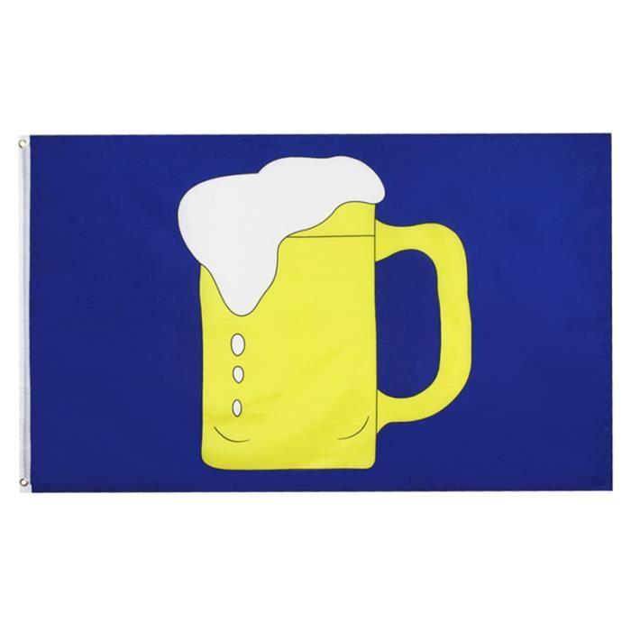 1 pc impression tirer drapeau coloré délicat décor créatif bière verre bannière pour la maison Bar KIT VERIN DE CARROSSERIE