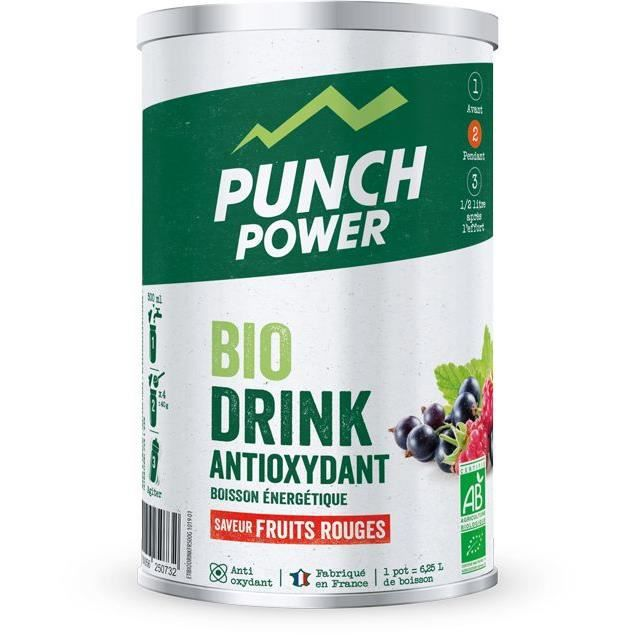 PUNCH POWER BIODRINK FRUITS ROUGES ANTIOXYDANT - POT 500G