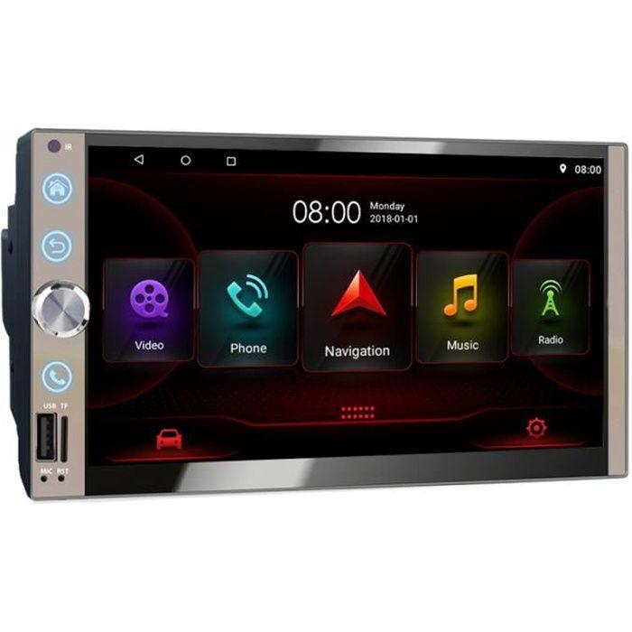 2 Din 7 Pouces Autoradio StéRéO Android 10.0 BT Wifi Navigation GPS Autoradio Unité Principale DAB OBD Lien Miroir