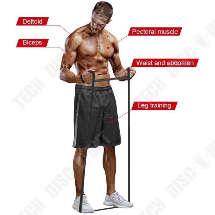 TD® Accessoires Fitness - Musculation,Bandes de résistance de Train de forme physique 208cm gymnase Pilates élastique en - Type Purp