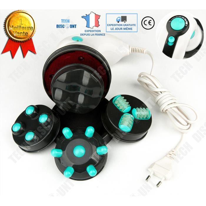 TD® Masseur anti cellulite accessoire professionnel relaxation 4 modes électriques massage profond relaxation muscles